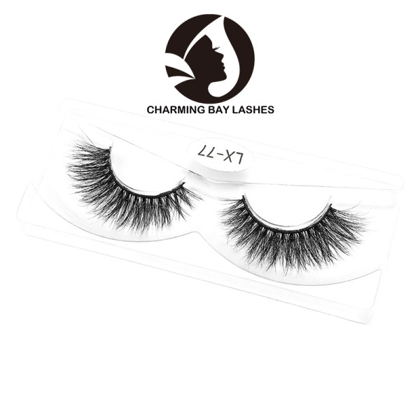 mink volume lashes thin band with packaging natural private label mink eye lashes