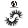 natural looking mink lashes with packaging box private label flat mink strip eye lashes