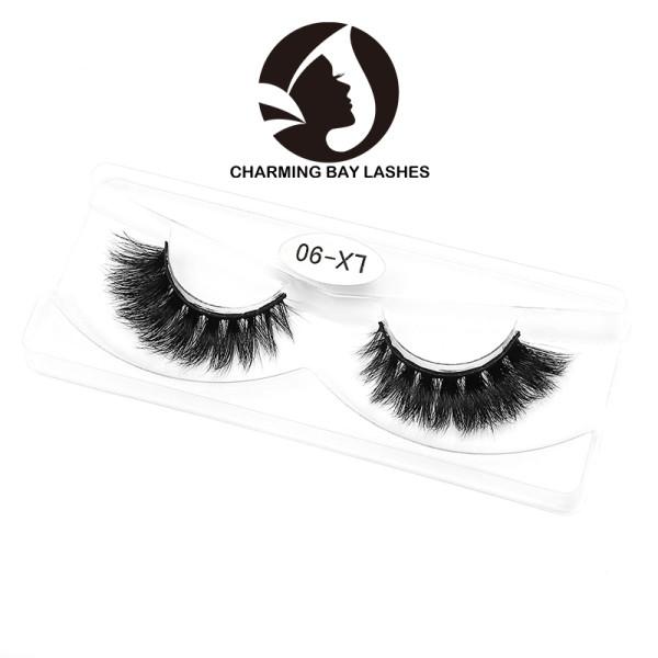 thick 3d mink unique lashes 100% hand made 3d mink eyelash wholesale mink eye lashes