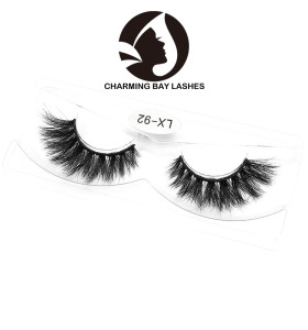 100% handmade 3d mink fur lashes thick wholesale mink lashes private label luxury 3d mink false eyelashes