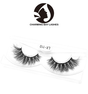 factory supply 3d real mink fur natural strip false eyelash with private label
