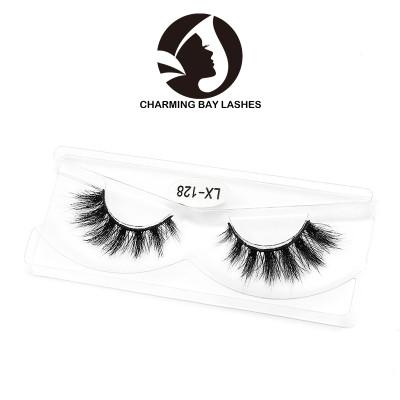 custom logo 3d mink free private label wispy strip eyelashes wholesale for sale