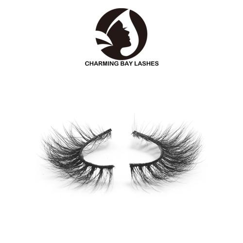 custom package 3d mink fur eyelashes strip lashes 3d mink layered eyelashes natural