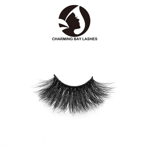no logo 3d soft mink transparent band unique eyelashes with custom packaging