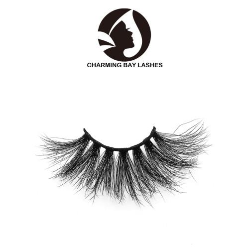 5d hand made 3d mink high quality eyelashes with own logo 5d eyelash strip wholesale