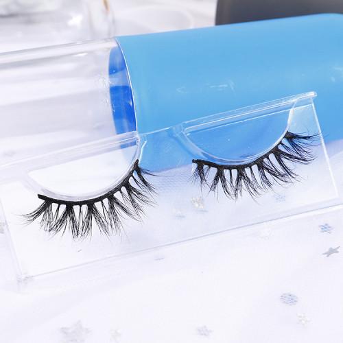 3d 100% siberian mink fur beauty lady charming eyelashes private labels custom brand wispy 3d mink eyelash