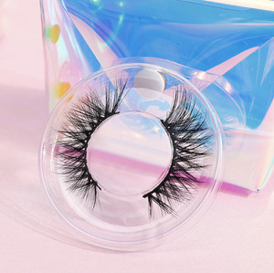 qindao 3d mink eyelashes with custom package natural private brand regular eyelashes human hair