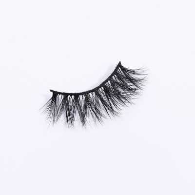 transparent band fluffy 3d mink beauty lady eyelashes cruelty free with custom eyelash box