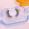free sample 3d natural fluffy mink eyelashes with custom eyelash packaging high quality false eyelashes