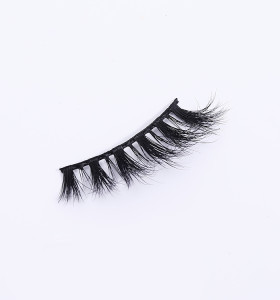 bulk 3d mink eyelashes beauty lady mink eyelashes with customize box packaging clear strip eyelashes
