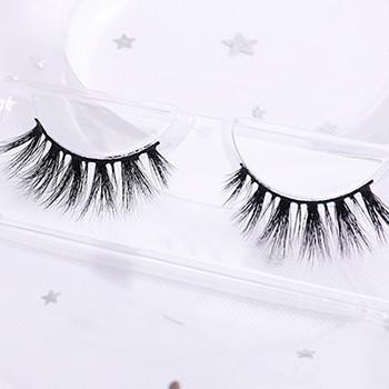 bulk 3d mink eyelashes beauty lady mink eyelashes with customize box packaging clear strip eyelashes