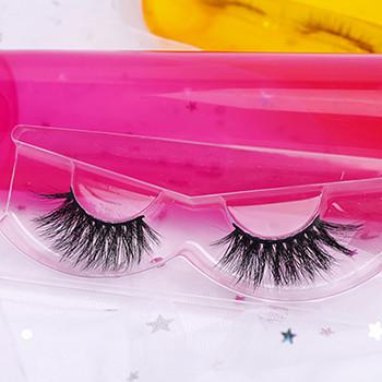 3d mink eyelashes with eyelash packaging box free sample fake eyelashes