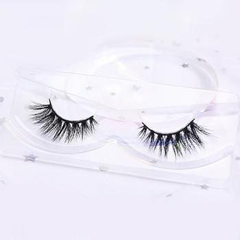 private label custom own brand 3d mink eyelash plastic case for qingdao eyelashes