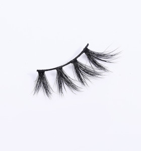 siberian 3d mink self adhesive soft false eyelashes with logo box transparent band eyelashes