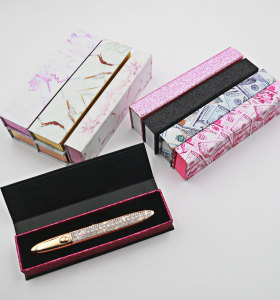 Hot new magic eyeliner box adhesive eyeliner box marble grain box