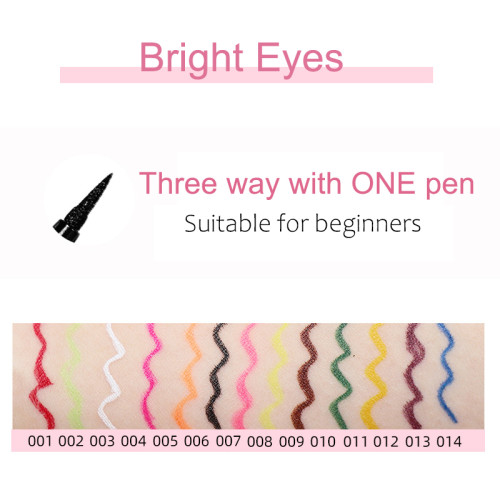 Factory direct selling sticky Eyeliner Pen dry, do not dizzy dye Eye Liner Pen three in one magic color Eyeliner Pen