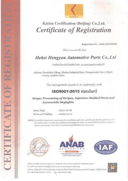 Sertifikasi Sistem Manajemen Mutu ISO9001