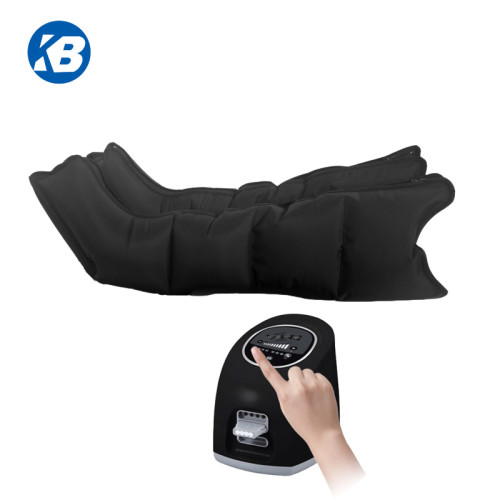 Air compression massage with leg, arm, waist cuffs for facilitating blood and lymph drainage circulation