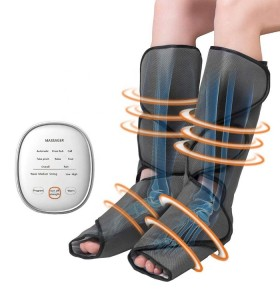 factory sell portable rechargeable relax air pressure foot calf wrap massager