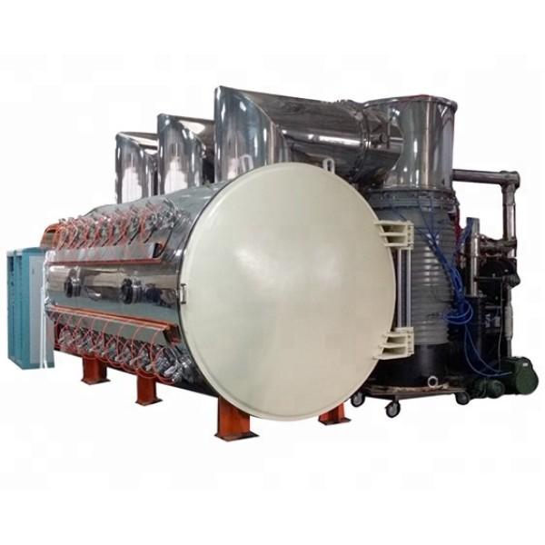 Large horizontal type multi-arc ion vacuum coating machine