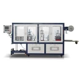 Máquina de termoformado de tapa plástica