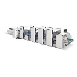 Automatic Corrugated Crash Bottom Lock Folding Gluing Machine
