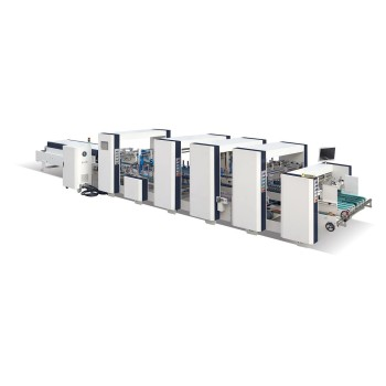 Automatic Corrugated Crash Bottom Lock Folding Gluing Machine