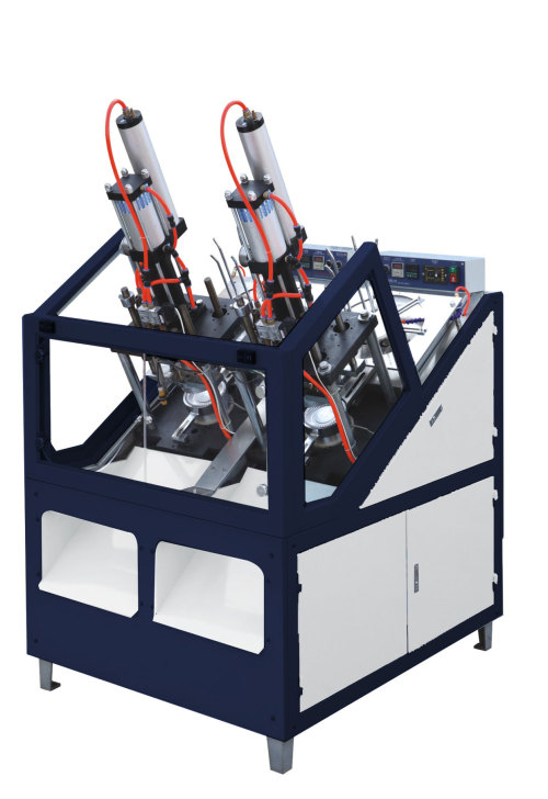 Máquina formadora de planchas de cartón