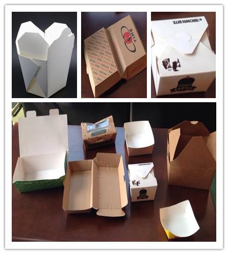 Caja de cartón que hace la máquina