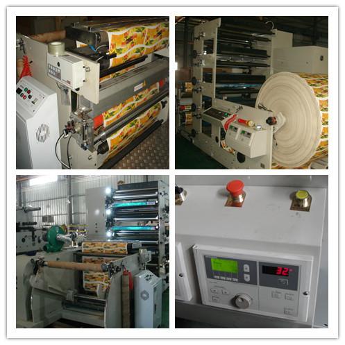 Máquina de impresión flexográfica automática alimentada por web