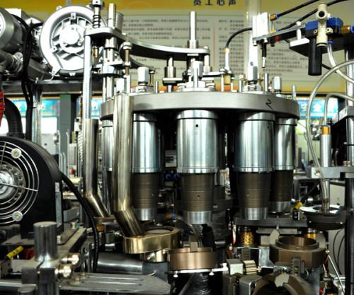 Máquina formadora de vasos de papel de velocidad media
