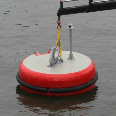 PIANC Marine Mooring Equipment EVA Floating Foam Mooring Buoy with Polyurethane Coating Skin