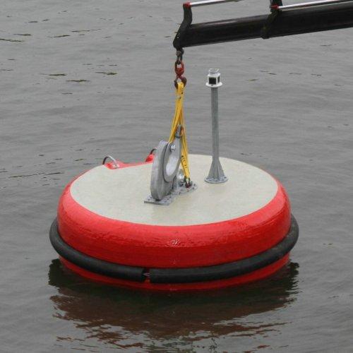 PIANC Marine Mooring Equipment EVA Floating Foam Mooring Buoy with Polyurethane Coating Skin