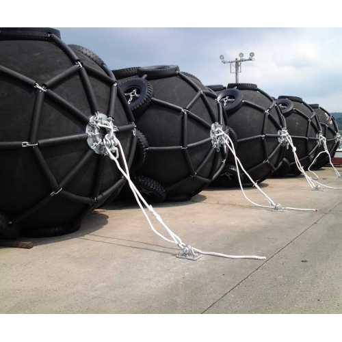Yokohama Type Pneumatic Fender for Tanker Berth in Malaysia Kemaman Port