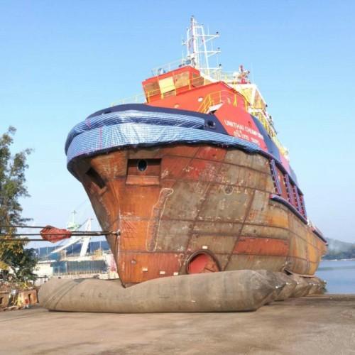 Jerryborg Marine Ship Launching Airbag for Engineering Ship in Thailand Shipyard