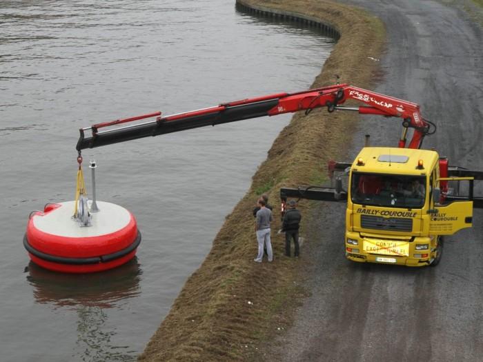 Mooring buoy installation