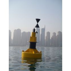 Ultrahigh Molecular Weight Polyethylene 1250mm Dia. Cardinal Mark Buoy