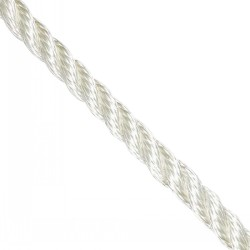 WhiteTwisted 3-Strand Polyster Rope