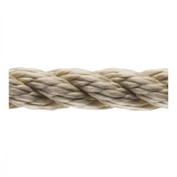 Brown Twisted 3-Strand Polyster Rope