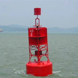 Ultrahigh Molecular Weight Polyethylene Ocean Lateral Mark Buoy With Hexagonal Aluminium Tower