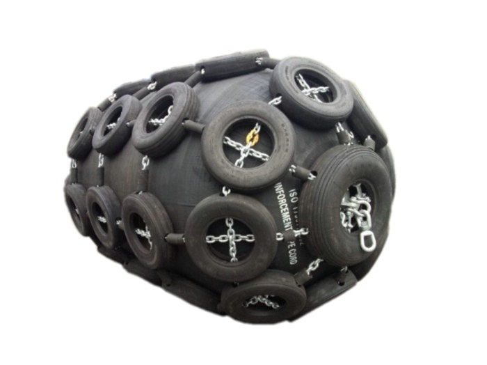 tire and chain net pneumatic fender