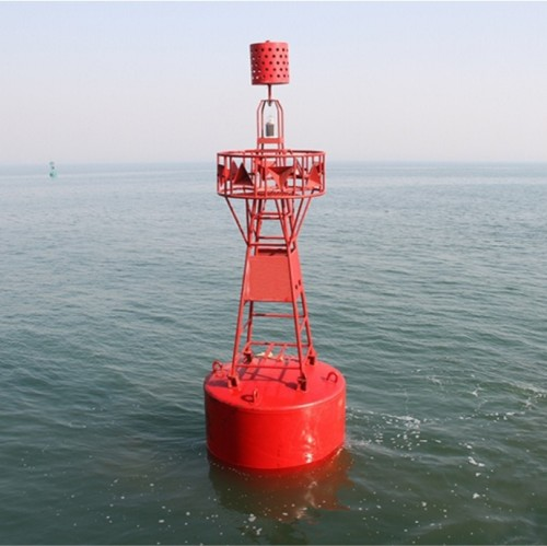 Ultrahigh Molecular Weight Polyethylene Red and White Stripes Safe Water Mark Buoy