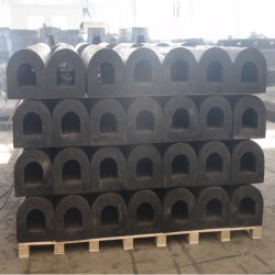 Boat Ship D Type Rubber Fender For Wharf And Dock Bumper