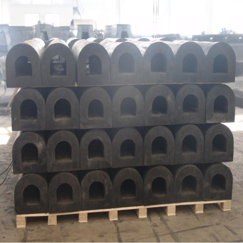 Marine Solid Rubber Bumper D Type Fender For Ship Protection
