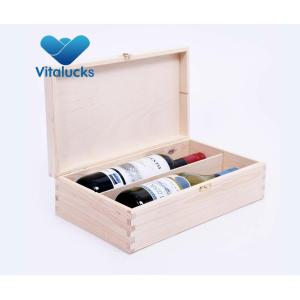 Customized unfinished pine wooden wine box