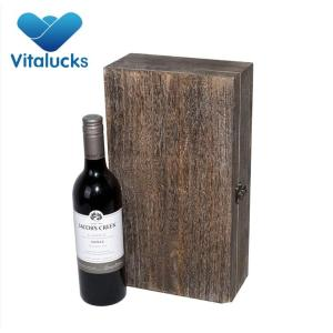 2 bottles package wooden wine box with stain color
