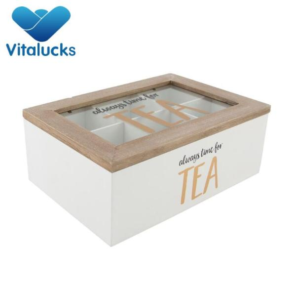 Custom gift wooden/bamboo tea box with competitive price