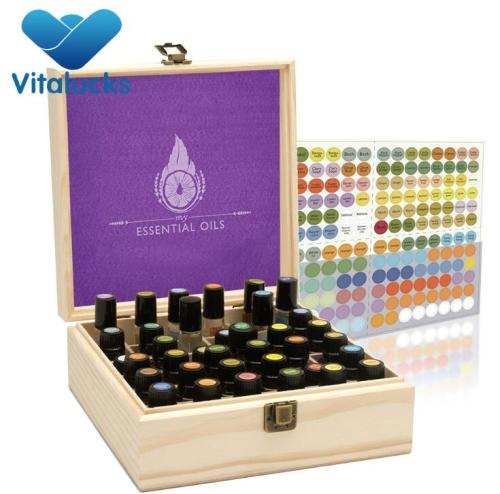 Hot sale unfinished packaging wooden essential oil box 36 bottles