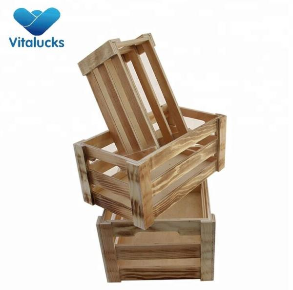 Hot selling sturdy and durable wooden fruit crates for sale
