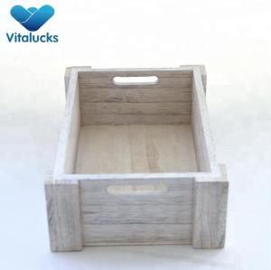 Eco-friendly pine wooden crates with white distressed